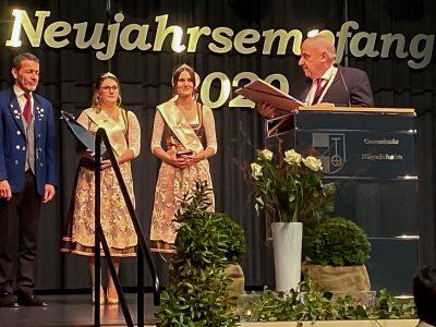 MartinSiegel vom Musikverein Hügelsheim wurde mit der Landesehrennadel ausgezeichnet