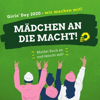 Mädchen an die Macht - Grafik für den Girlsday 2020