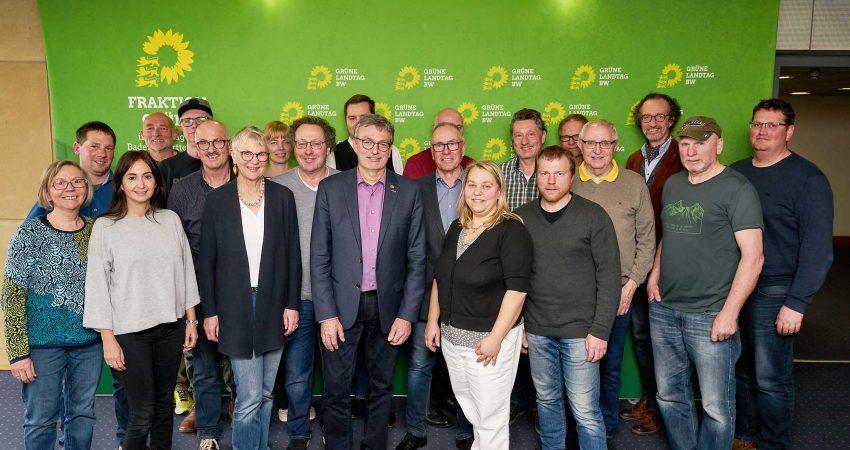 Die Teilnehmerinnen und Teilnehmer der Besucherfahrt nach Stuttgart