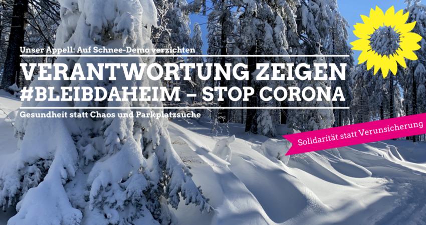 Sharepic - Kein Verständnis für Schneedemo
