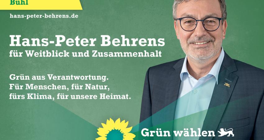 Landtagskandidat Hans-Peter Behrens für Baden-Baden und Bühl